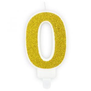 Party Deco kaarsje cijfer 0 goud