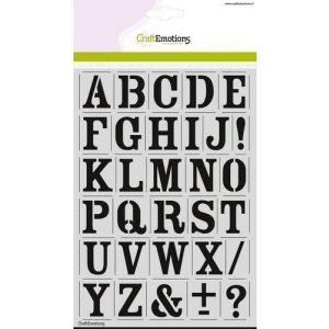 Sjabloon alfabet vintage A5 27mm