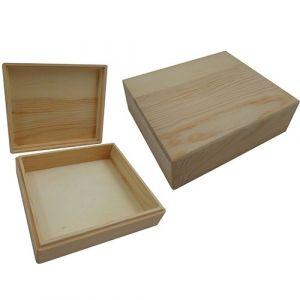 Kistje rechthoek met losse deksel hout