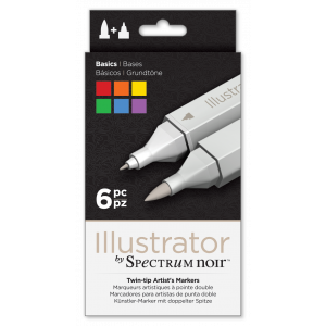 Spectrum Noir Illustrator marker set Basics 6 stuks