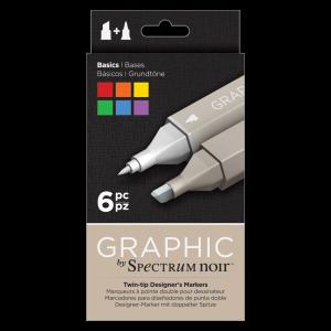 Spectrum Noir Graphic marker set Basics 6 stuks