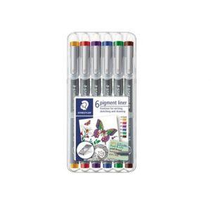 Staedtler pigment liner 0,5mm set 6 stuks