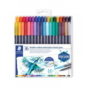 Staedtler Double-ended watercolour brush pens 36st 3001 TB36