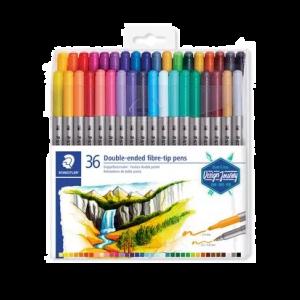 Staedtler Double-ended fibre tip pens 36st 3200 TB 36