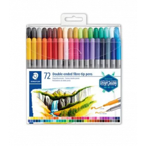 Staedtler Double-ended fibre tip pens 72st 3200 TB 72