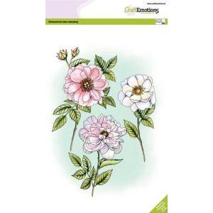 Craftemotion clearstamps rozen en takken A5 130501/3005