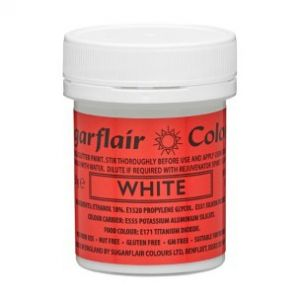 Sugarflair eetbare verf glitter wit 35gr T405