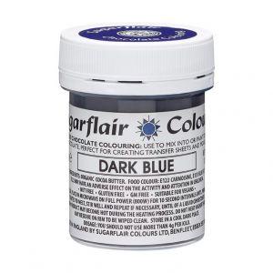 Sugarflair chocolade kleurstof dark blue