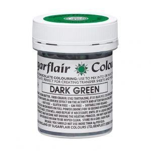 Sugarflair chocolade kleurstof dark green