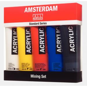 Amsterdam acrylverf standard mixing set 5 tubes 120ml