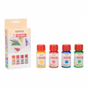 Art Creation textielverf set pearl 4x50ml 401900003