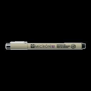 Fineliner Sakura Pigma Micron 02 0,3mm zwart XSDK0249
