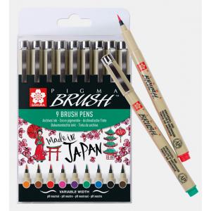 Sakura Pigma Brush 9-delige set