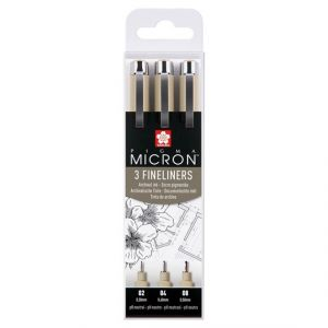Sakura Pigma Micron Urban fineliners zwart set 3-delig POXSDK3
