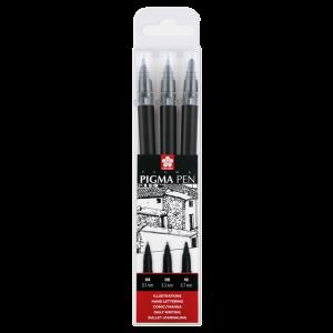 Sakura Pigma pen 3-delige set zwart POXFVKP349