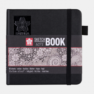 Sakura Sketch notebook 12x12cm cremewit 140gr 80 vel 94140002