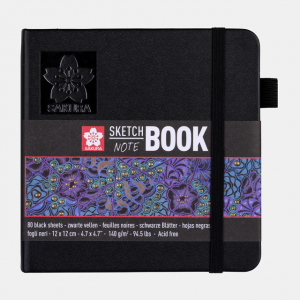 Sakura Sketch notebook 12x12cm zwart 140gr 80 vel 94141002