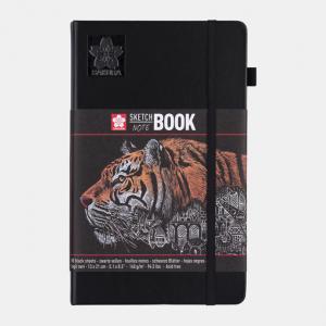 Sakura Sketch notebook 13x21cm zwart 140gr 80 vel 94141003