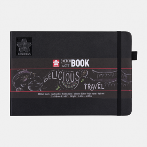 Sakura Sketch notebook 21x14,8cm zwart 140gr 80 vel 94141004