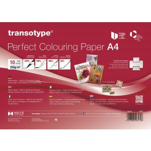 Transotype Perfect Coloring Paper A4 250g/m2 10 vel