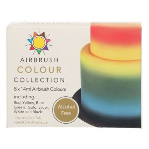 Sugarflair Airbrush colour collection alcohol free 8 st.