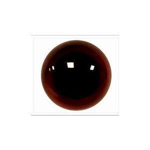 Veiligheids ogen donker bruin transparant 12mm