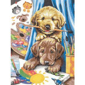 Dimensions Kleuren op nummer 91688 Puppies