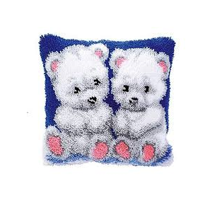 Knoopkussen pakket 2 ijsbeertjes