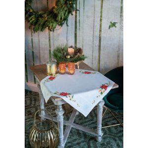Vervaco Borduurpakker dekservet kerstbloemen PN-0157190
