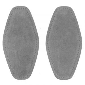 Elleboog stukken 004 suedine grijs 1 paar