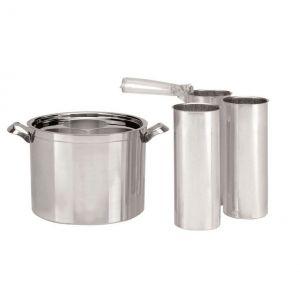 Smeltpanset aluminium was kaarsen maken