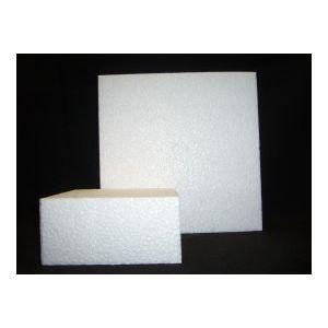 Styropor schijf vierkant 10x10cm