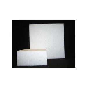 Styropor schijf vierkant 10x10x10cm
