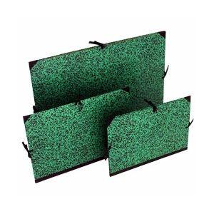 Tekenmap groen/zwart 32x45 cm