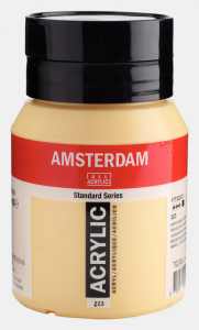 Amsterdam acrylverf standard 223 napelsgeel donker