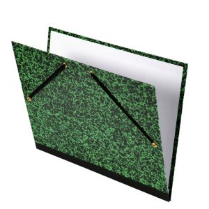 Tekenmap groen/zwart 47x62 cm