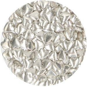 Funcakes suikerhartjes metallic zilver 80gr F52220