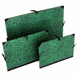 Tekenmap groen/zwart 59x72 cm